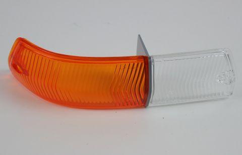 BLINK/PARKLAMPE GLASS 164 GUL/HVIT HØYRE