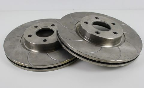 Bremseskivesats Foran S40/V50/C30/C70 300mm Slissa Type-Par