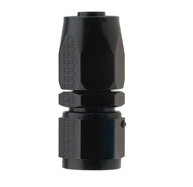 AN10 STRAIGHT PRO-FLOW HOSE END BLACK
