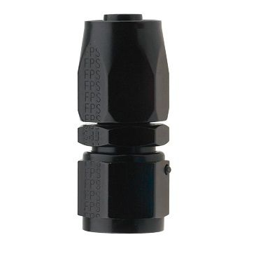 AN12 STRAIGHT PRO-FLOW HOSE END BLACK
