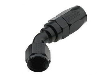 AN4 X 45 PRO-FLOW HOSE END BLACK