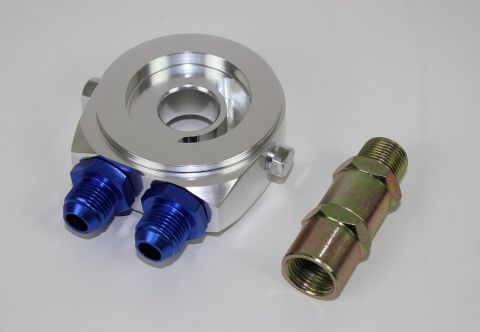 OLJE ADAPTER PLATE AN8 MED NIPPLER 2X INNGANG FOR GIVER 1/8.