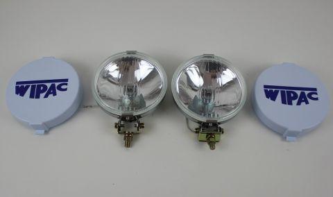 """Ekstralys sats crom 5,5"""" diameter  langlys/Fjernlys 12V H3"""