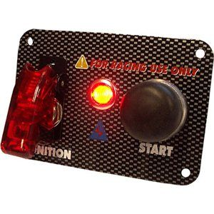 RACING START SWITCH CARBONLOOK PANEL 95x65MM RED LIGHT 1 SWITCH