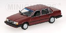 MODELLBIL 740 SEDAN RED MET  MINICHAMP 1:43