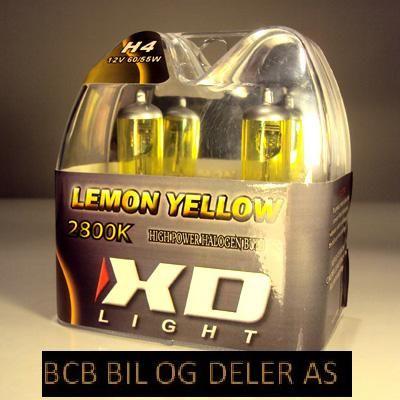 LYSPÆRE X-D LIGHT H4 LEMON YELLOW  2800K - 55/60W