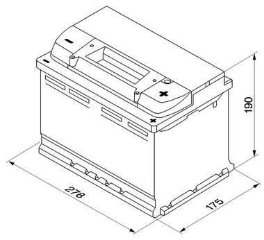 BATTERI TIL BIL BOSCH 12V 74 AMP. TILBUDSPRIS  se info: