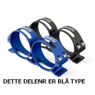 NUKE PERFORMANCE DOBBEL BRAKKET EKS FOR BENSINPUMPE,BLÅ