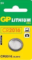 BATTERI CR2016 LITHIUM CELL STR Ø20X1,6 MM 3VOLT