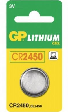 BATTERI CR2450 LITHIUM CELL STR Ø24,4X5,0 MM 3VOLT