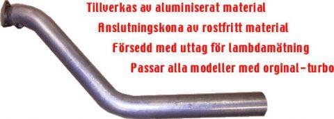 """EKSOS FRONTRØR/DOWNPIPE 3""""JT 940 OG SISTE MOD AV 740"""