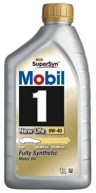 OLJE MOBIL 1 NEW LIFE 0W-40 SYNTETISK MOTOROLJE 1LITER