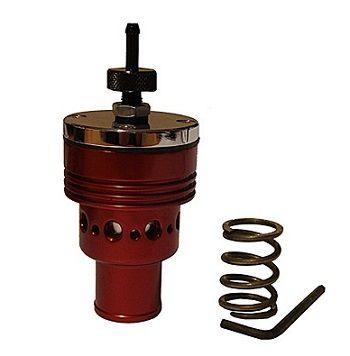 SR25 HOT RED DUMPVALVE FOR 25 MM HOSE EXTRA SPRING INCLUDED