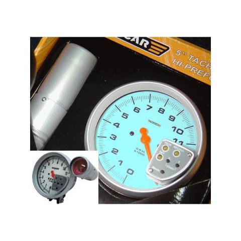 R-PERFORMANCE 5 TACHOMETER WITH SHIFT + RECALL 4/5/6 CYL BLUE LIGHT