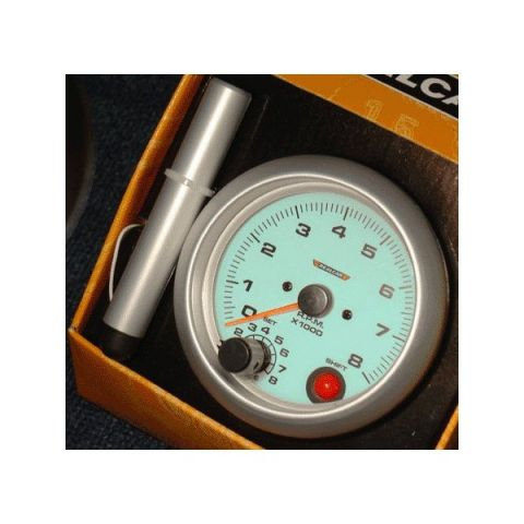 R-PERFOR. 95MM TACHO/8000 RPM GAUGE BLUE ELECT. SHIFTLIGHT 4/6/8 CYL.