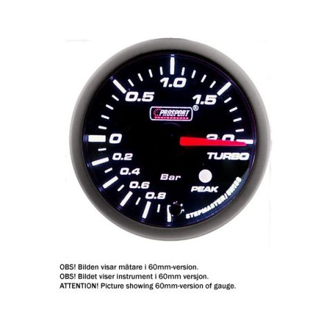 PROSPORT-S 52MM ELECTRONIC BOOST GAUGE WITH SENDER PEAK/WARNING 20BAR