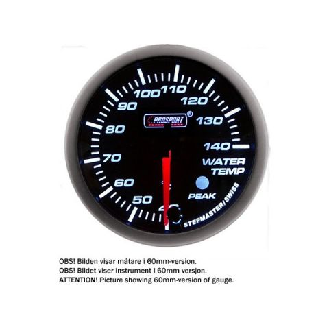 PROSPORT-S 52 MM ELECTRONIC WATERTEMP GAUGE WITH SENDER PEAK/WARNING