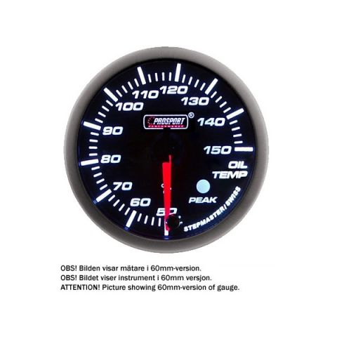 PROSPORT-S 52 MM ELECTRONIC OILTEMP GAUGE WITH SENDER PEAK/WARNING