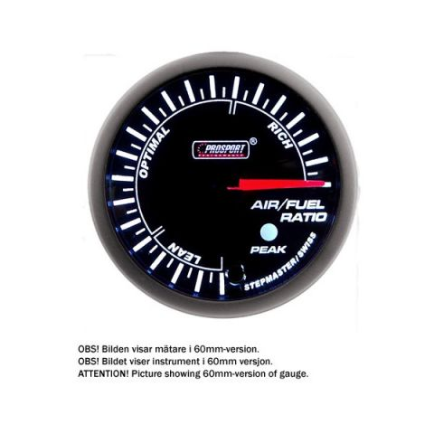 PROSPORT-S 52 MM ELECTRONIC LAMBDA GAUGE WITH PEAK/WARNING