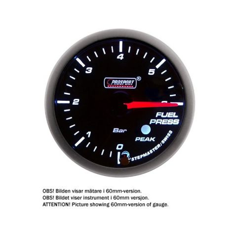 PROSPORT-S 52 MM ELECTRONIC FUELPRESS GAUGE WITH SENDER PEAK/WARNING
