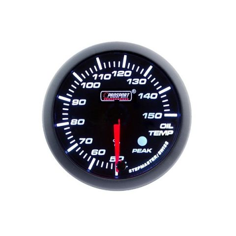 PROSPORT-S 60 MM ELECTRONIC OILTEMP GAUGE WITH SENDER PEAK/WARNING