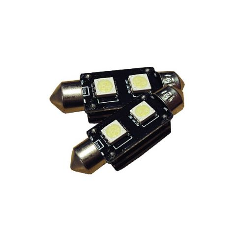 X-D LIGHT 38MM DOMELIGHT WITH RESISTOR BUILT IN SMD WHITE - PAIR