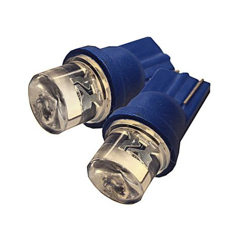 X-D LIGHT T10 24 VOLT SINGLE LED LENS SPREAD 2-PACK BLUE
