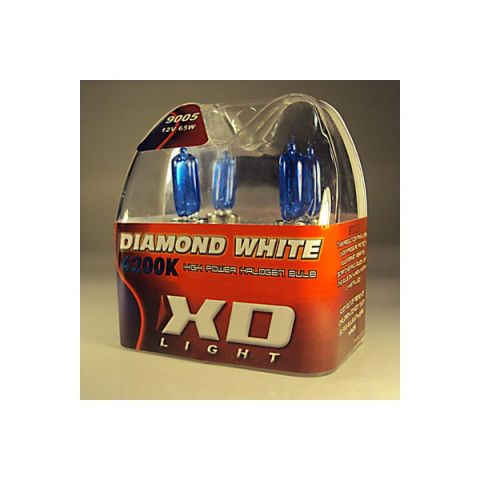 X-D LIGHT 9005/HB3 DIAMOND WHITE BULBS 4200K - 55W- PAIR IN BOX