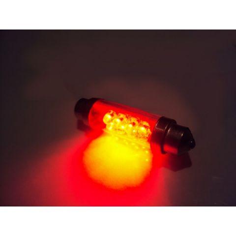X-D LIGHT DOMELIGHT 44MM 8-LED RED - PAIR