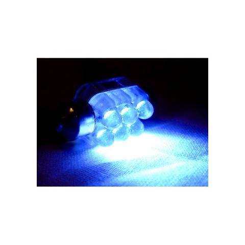 X-D LIGHT 6LED DOMELIGHT 10MMX36MM BLUE EACH