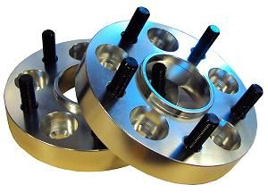 SET OF TWO 25MM WHEELSPACERS 5/108 to 5/1143 651 M12x125 25MM THICK